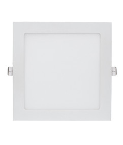 LED Downlight - Dimmable 18W 1500lm IP20 3000K 222mm White Square Shop Light - Min10