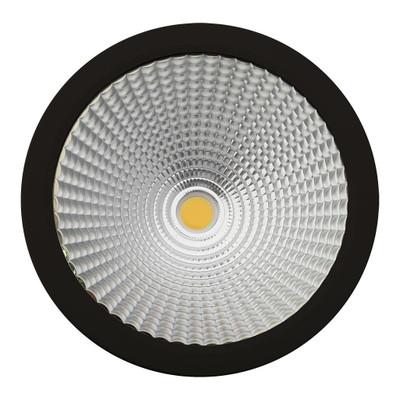 Cylindrical 240V 35W LED Ceiling Light - Black Finish / Warm White LED