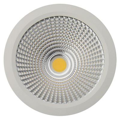 Cylindrical 240V 25W LED Ceiling Light - White Finish / White LED
