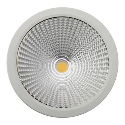 Cylindrical 240V 35W LED Ceiling Light - White Finish / Warm White LED