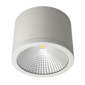 Surface Mounted Downlight - Dimmable 35W 3150lm IP54 IK08 4000K 160mm Satin White Commercial Grade - Min10