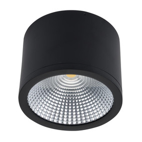 Surface Mounted Downlight - Dimmable 35W 3150lm IP54 IK08 4000K 160mm Matte Black Commercial Grade - Min10