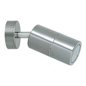 Outdoor Contemporary 1 Light Adjustable LED GU10 Spotlight - Titanium Silver - Min10