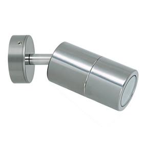 Marine Grade Wall Spotlight - Adjustable 35W GU10 IP65 3000K 110mm Titanium Silver - Min10