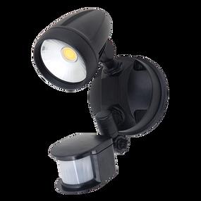 Robust-15S Single Head 15W LED Security Spotlight - Tri Colour, Black - Min10