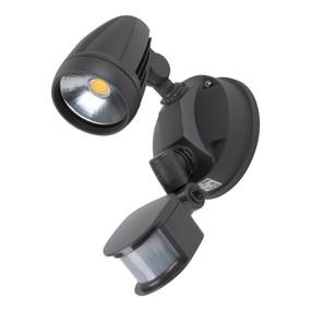 Robust-15S Single Head 15W LED Security Spotlight - Tri Colour, Grey - Min10