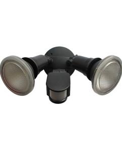 Security Light With Sensor - 2 Lights 5000K 1600lm 70.5mm 20W Black - Min10