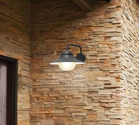 Contemporary Outdoor Wall Light IP44 - Black - Min10