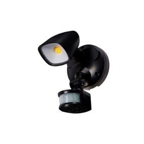 Security Light With Sensor - 12W 1100lm IP54 Tri Colour 188mm Matte Black