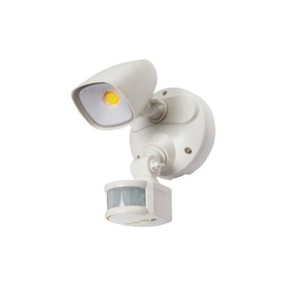 Security Light With Sensor - 12W 1100lm IP54 Tri Colour 188mm White