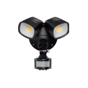 Security Light With Sensor - 24W 2200lm IP54 Tri Colour 188mm Matte Black
