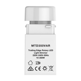 LED Rotary Trailing Dimmer - 350W IP20