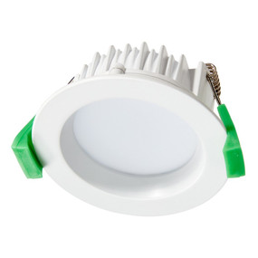 LED Downlight - Dimmable 8W 700lm IP44 Tri Colour 85mm White