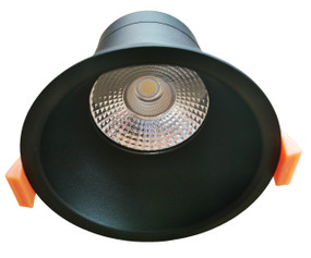 LED Downlight - Dimmable 10W 780lm IP44 Tri Colour 100mm Matte Black