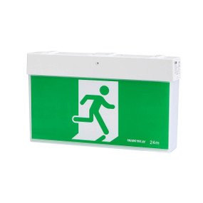 Emergency Exit Sign - LED 3.5W 24m Viewing Distance Wall or Ceiling Mounted 3 Hours
