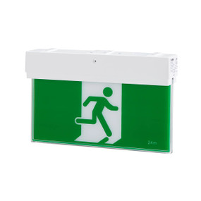 Emergency Exit Sign - LED 3.5W 24m Viewing Distance Wall or Ceiling Mounted 3 Hours Slimline
