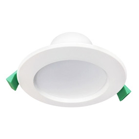 LED Downlight - Dimmable 9W 880lm IP44 Tri Colour 115mm White