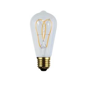 LED ST64 Filament Globe - E27 5W 300lm 2200K 140mm Clear