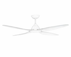 Ceiling Fan With Light and Remote - 145cm 58inch 38W Tri Colour White 6 Speed