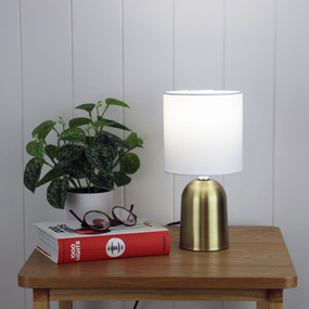 Touch Lamp - E14 42W 275mm Antique Brass