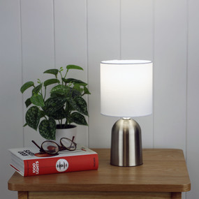Touch Lamp - E14 42W 275mm Brushed Chrome