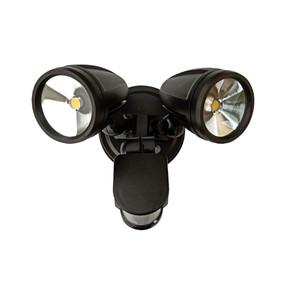 Flood Light With Sensor - 30W 2200lm IP54 4000K 160mm Matte Black