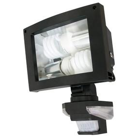 Flood Light With Sensor - E27 24W IP44 300mm Black