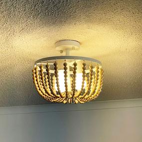 Koni Pendant Light - E27 126W 320mm Natural Wood