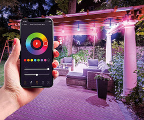Christmas Lights - 12m Smart WiFi RGBW Connectable Indoor or Outdoor 240V