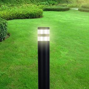 Bollard Light - E27 40W IP44 800mm Textured Black