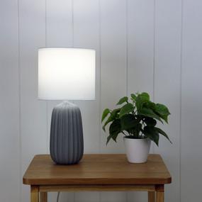 Table Lamp - E14 40W 380mm Matte Grey
