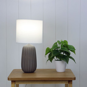Table Lamp - E14 40W 380mm Matte Taupe