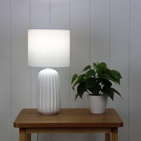 Table Lamp - E14 40W 380mm Matte White