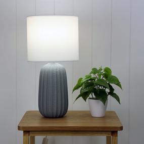 Table Lamp - E27 60W 470mm Matte Grey