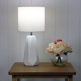 Table Lamp - E27 60W 450mm Matte White