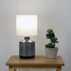 Table Lamp - E14 40W 380mm Gloss Coffee