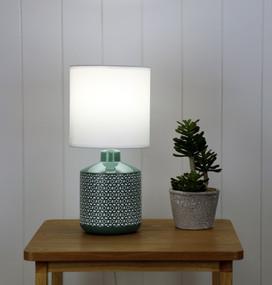 Table Lamp - E14 40W 380mm Gloss Green