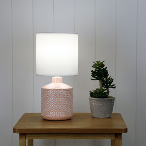 Table Lamp - E14 40W 380mm Gloss Pink