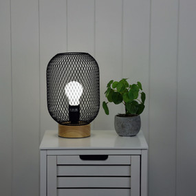 Table Lamp - E27 60W 280mm Matte Black
