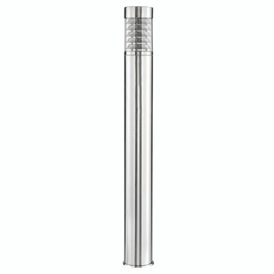 Light: PORTICO Louvred 900mm Bollard - STAINLESS STEEL