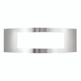 Light: CAIRNS Modern Narrow Wall Light - STAINLESS STEEL / WHITE
