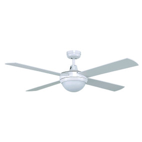 Tempo 48 Inch Ceiling Fan with Light - White