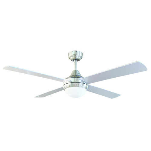 Tempo 48 Inch Ceiling Fan with Light - Chrome