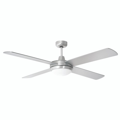 Tempest 52 Inch Ceiling Fan with LED Light - Brushed Aluminium