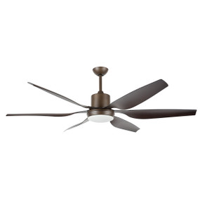 Aviator 66 Inch Ceiling Fan with Remote and Maskable Light - Bronze