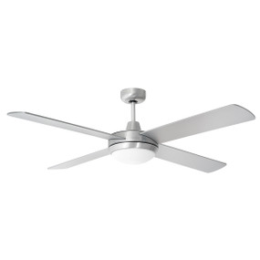 Tempest 48 Inch Ceiling Fan with LED Light - Brushed Aluminium