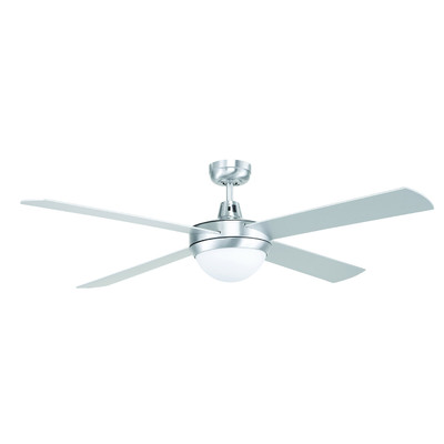 Tempest 52 Inch Ceiling Fan with B22 Light - Brushed Chrome