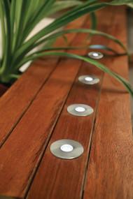 Light: PORTSEA LED 5 Light 50mm Round Deck Light Kit - STAINLESS STEEL