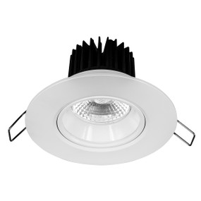 Light: ILLUMINA 8W High Lumen LED Downlight (Warm White) - WHITE