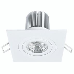 Light: LUXOR High Lumen LED Square Gimbal Downlight (Cool White) - WHITE